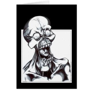 Sorrindo o Ghoul Cartão Comemorativo