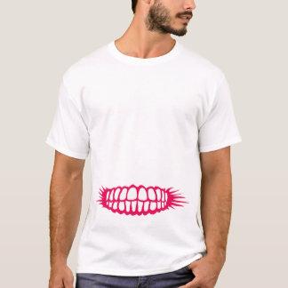 Sorrindo os dentes camisetas