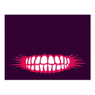 Sorrindo os dentes cartão postal