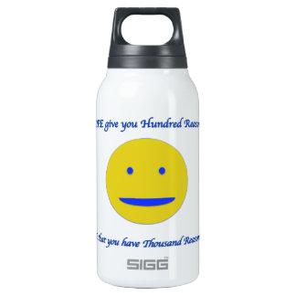 Sorriso à vida garrafa de água térmica