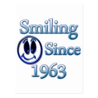 Sorriso desde 1963 cartão postal