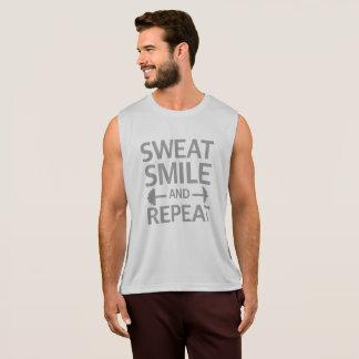 Sorriso e repetição do suor camisetas