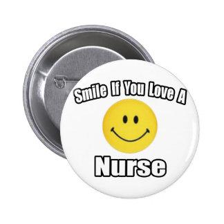 Sorriso se você ama uma enfermeira boton