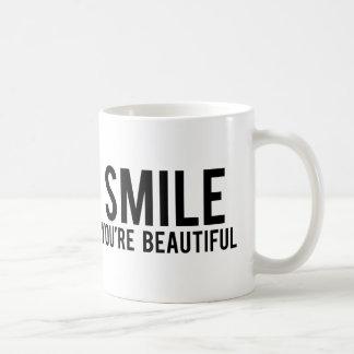 Sorriso você é bonito caneca de café