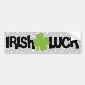 Sorte do irlandês do dia de St Patrick Adesivo Para Carro