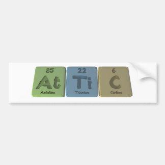 Sótão-Em-Ti-c-Astatine-titânio-Carbono Adesivo Para Carro