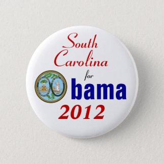 South Carolina para Obama 2012 Bóton Redondo 5.08cm