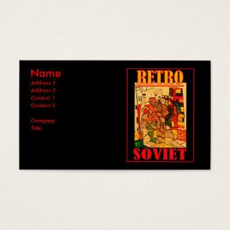 SOVIETE RETRO CARTÃO DE VISITAS
