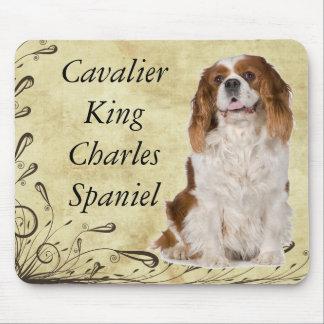 Spaniel de rei Charles descuidado Mouse Pad