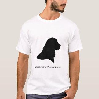 Spaniel de rei Charles descuidado - silhueta preta Tshirts