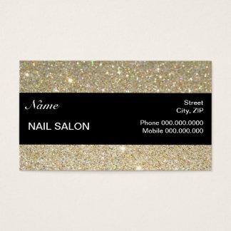 Sparkles & cartão de negócios elegantes do salão cartão de visita