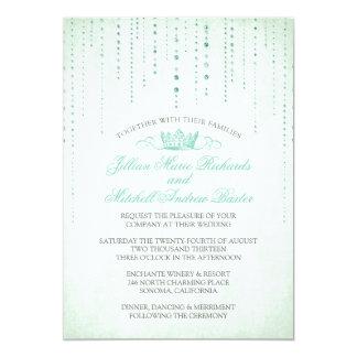 Sparkles & convite do casamento do conto de fadas