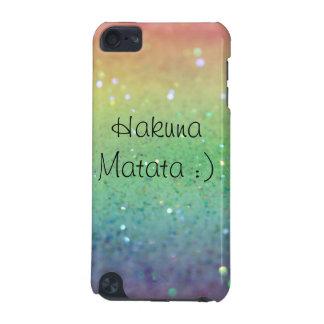 Sparkles do arco-íris de Hakuna Matata- (iPod 5g) Capa Para iPod Touch 5G
