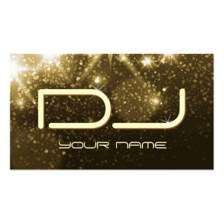 Sparkles do ouro do encanto - partido DJ Cartão De Visita