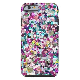 Sparkles do Sequin Capa Tough Para iPhone 6
