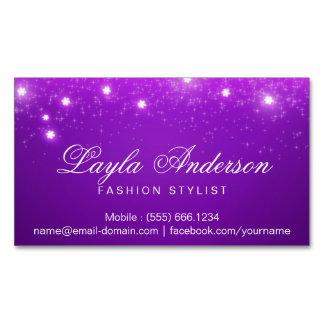 Sparkles estrelados Glam roxos violetas