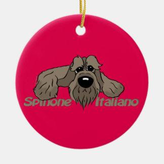 Spinone Italiano dkl. Cabeça Cute Ornamento De Cerâmica Redondo