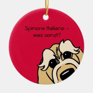 Spinone Italiano - que por outro lado? Ornamento De Cerâmica Redondo