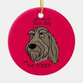 Spinone Nice dog Ornamento De Cerâmica Redondo