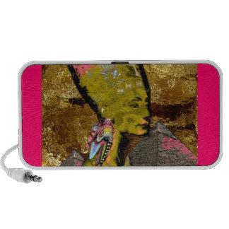 spkrs cor-de-rosa de AfroChicGrEEK Nefertiti Caixinhas De Som Para Viagem