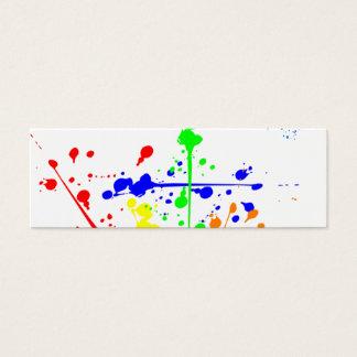 Splatter colorido cartão de visita skinny