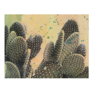 Splatter verde do cacto | do deserto cartão postal