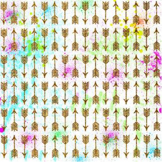 Splatters das aguarelas das setas do efeito do foto esculturas