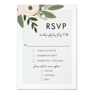 Sprigs florais do casamento, cartão do menu de convite 8.89 x 12.7cm