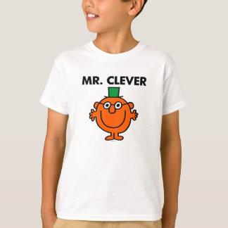 Sr. clássico Inteligente Logotipo Camisetas