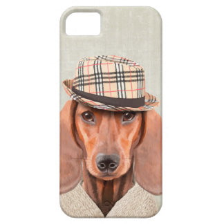Sr. Dachshund Capa Barely There Para iPhone 5
