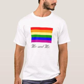 Sr. e Sr./orgulho gay Tshirts