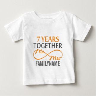 Sr. e Sra. feitos sob encomenda 7o aniversário Tshirts