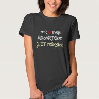 Sr. e Sra. personalizados camisas do recem casados Camisetas