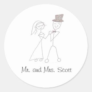 Sr. e Sra. Scott Adesivo Redondo