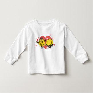 Sr. Feliz & senhorita pequena Luz do sol Casamento Camiseta