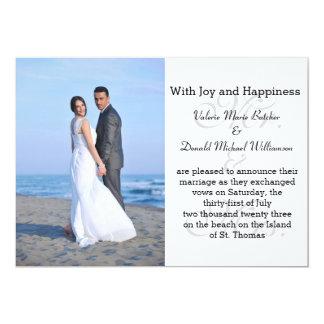 Sr. & Sra. Cinza - anúncio do casamento da foto Convite 12.7 X 17.78cm