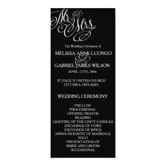 """Sr. & Sra. clássicos Casamento Programa Convite 10.16"""" X 23.49cm"""