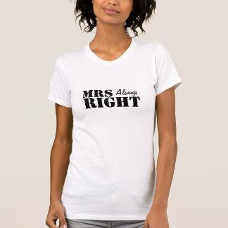 Sra. (sempre) recem casados direito t-shirt