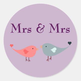 Sra. & Sra. (casamento) Adesivo