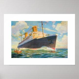 SS Brema no mar Poster