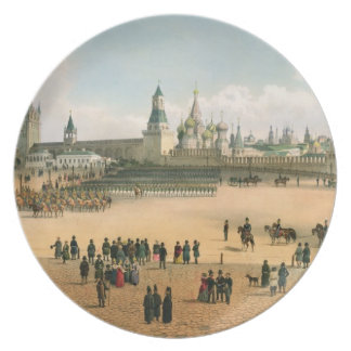 St. A catedral da manjericão vista do Kremlin, de Louças De Jantar