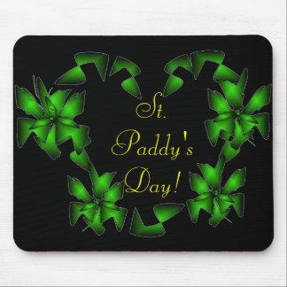 St. Coração irlandês do dia da almofada - customiz Mouse Pads
