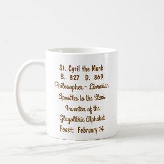 St. Cyril a caneca de café #1c da monge (M 002)