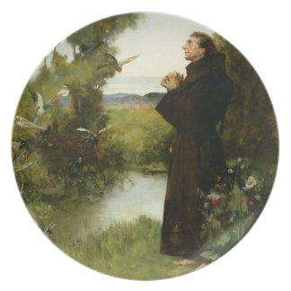 St Francis, 1898 (óleo em canvas) Prato De Festa