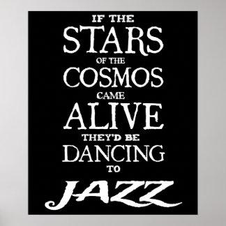 """STARS"" - jazz - 24"" VIVO x 20"" o poster (Matte)"