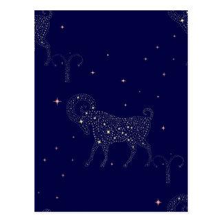 stars o aries cartão postal