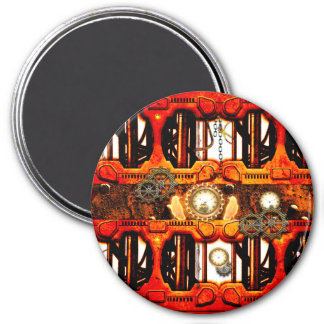 Steampunk Ímã Redondo 7.62cm