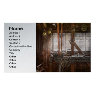 Steampunk - operador - minha oficina consertando modelos cartões de visita