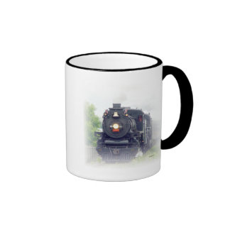 steamtrain americano caneca com contorno