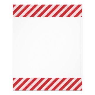 [STR-RD-1] Bastão de doces vermelho e branco listr Flyer 11.43 X 14.22cm